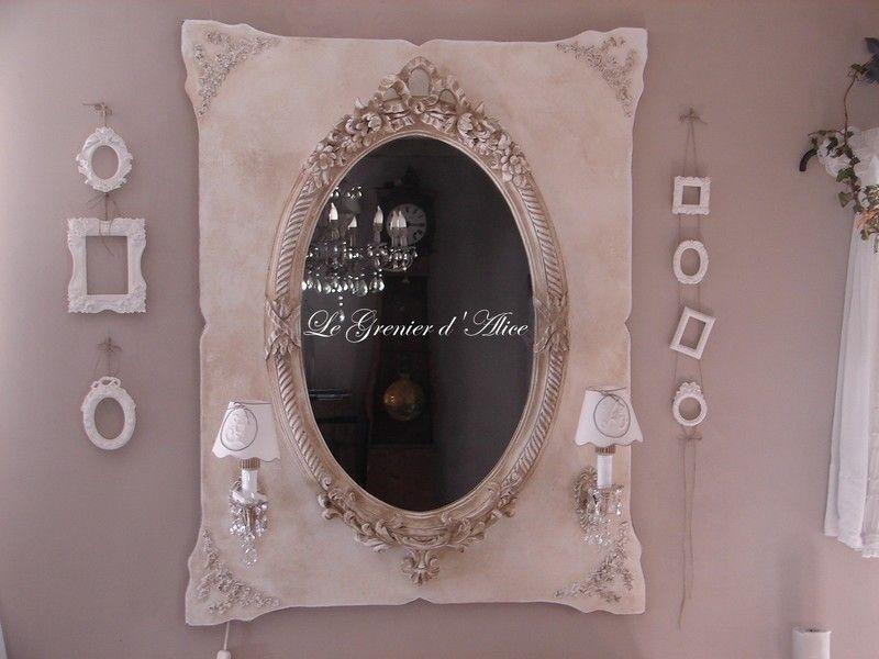 Miroir oval patin d coration de charme photo de miroirs trumeaux l - Decoration de charme ...