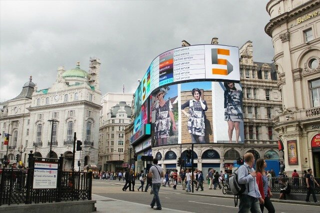 Les 3 Stars sur Piccadily Circus