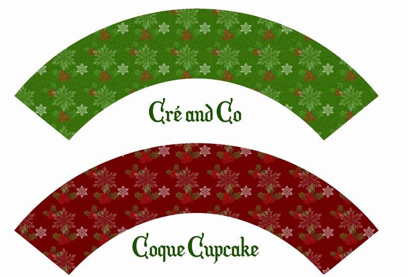 Coque cupcake noel vert
