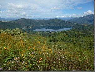 Lac de cratère de Santa maria del Ojo, sanctuaire de papillions.