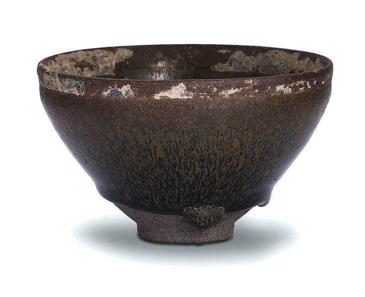 An inscribed 'Jian' 'hare's fur' teabowl, Song dynasty
