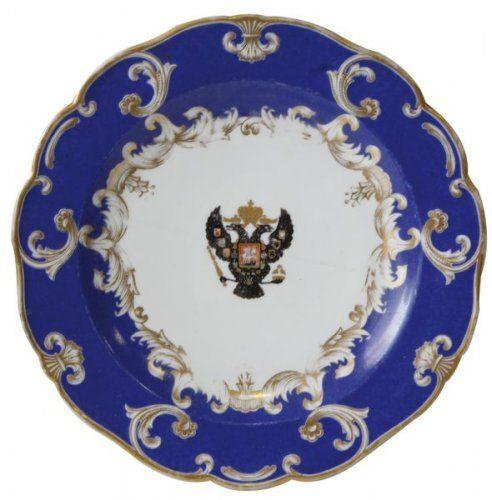 assiette polylob e en porcelaine du service de table de la famille imp riale de russie. Black Bedroom Furniture Sets. Home Design Ideas