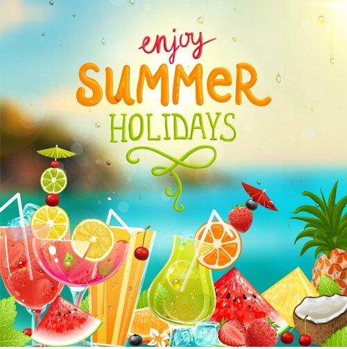 Enjoy-tropical-summer-holidays-backgrounds-vector-04