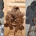 Écharpe fleurs