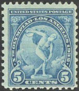 Timbre 5 cents 1932