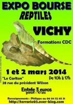 Affiche Expo-Bourse reptiles Vichy