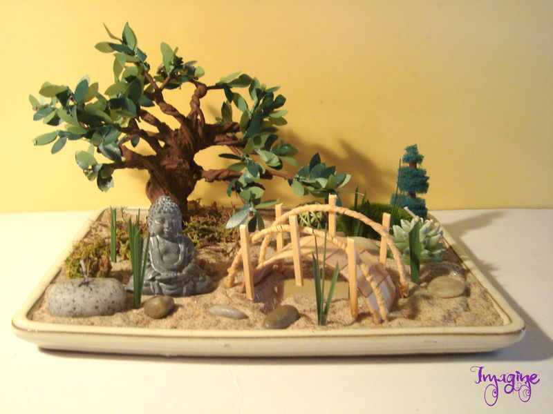 Mini jardin zen japonais photo de divers imagine for Jardin japonais miniature