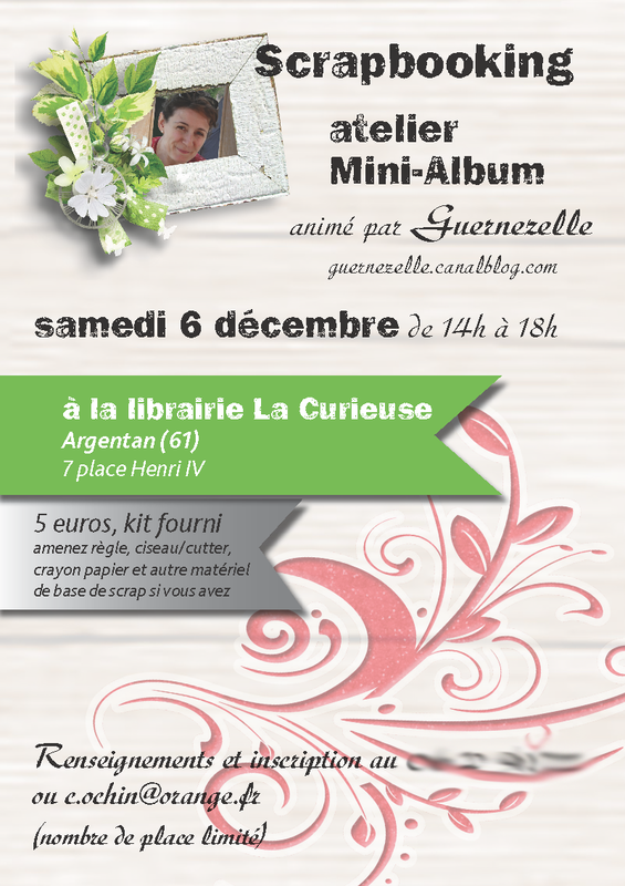 Affiche A4 atelier minialbum 6dec2014
