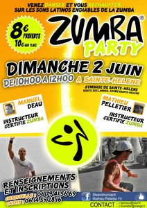 Zumba party 2 juin Sainte-Helene