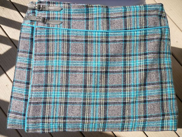 jupe passepoilee tartan