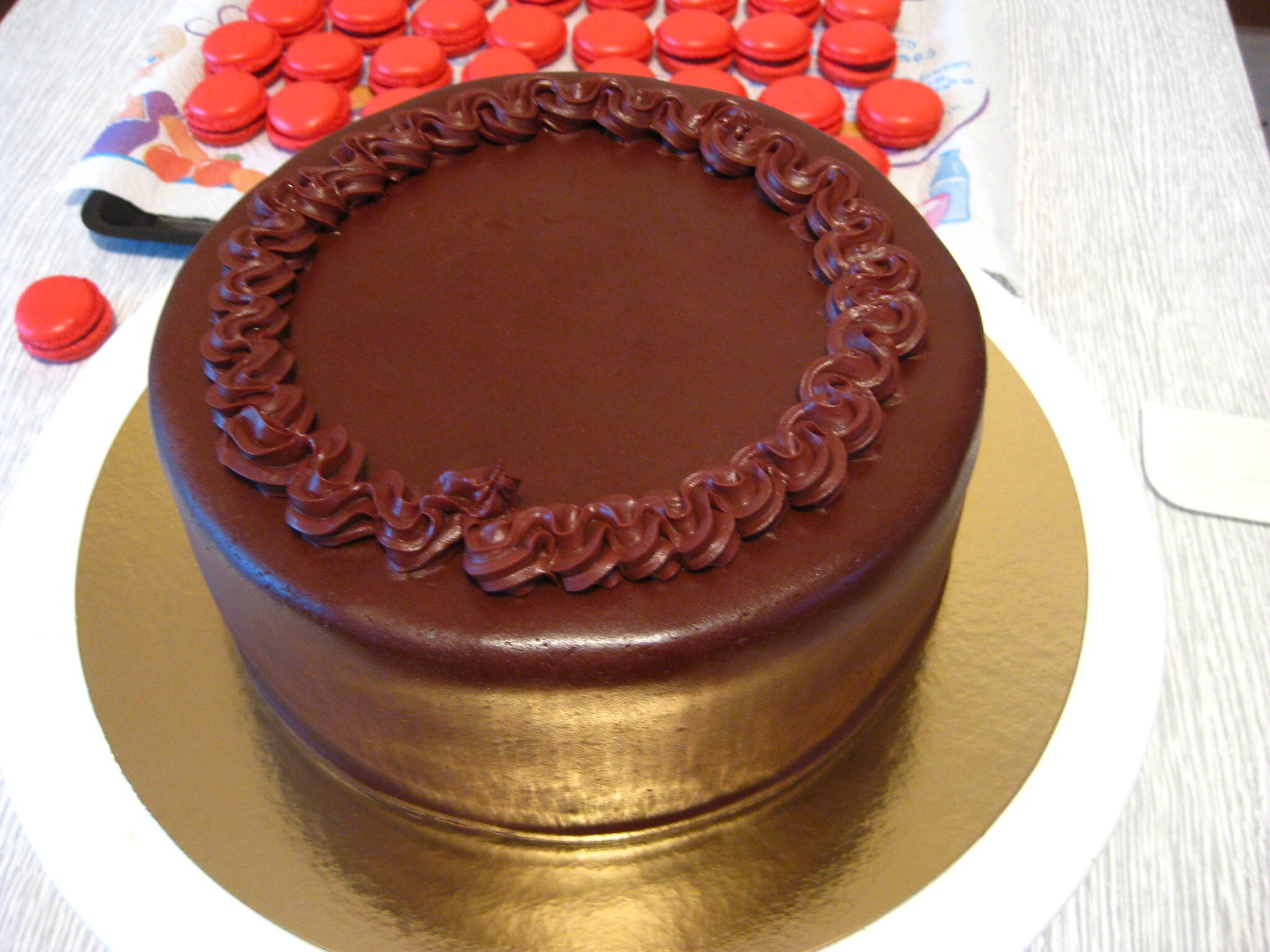 decoration gateau ganache chocolat