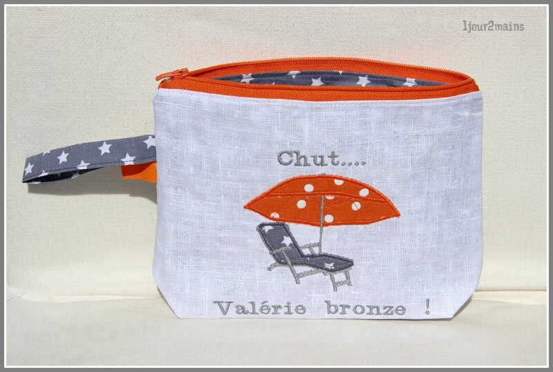 trousse plage orange