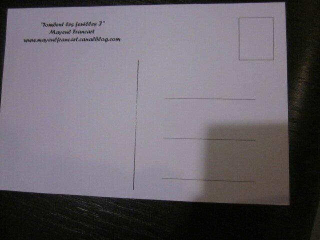 Carte postale - Tombent les feuilles I (1)