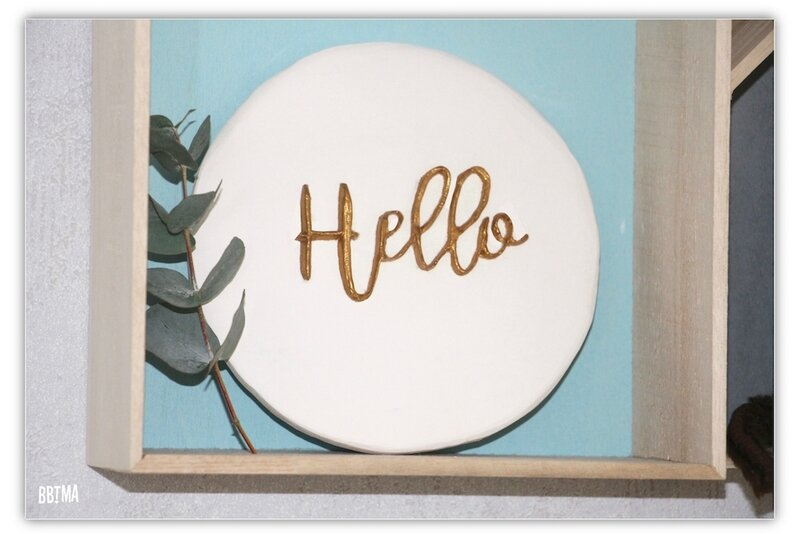 3 plaque blanc or doré déco décoration plaque murale platre scandinave diy tuto giotto fila ambassadrice hello 3D relief do it yourself bbtma blog enfant