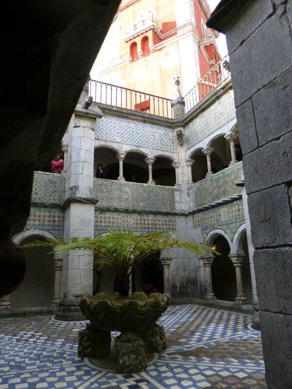 Cour intérieure palais de la Pena