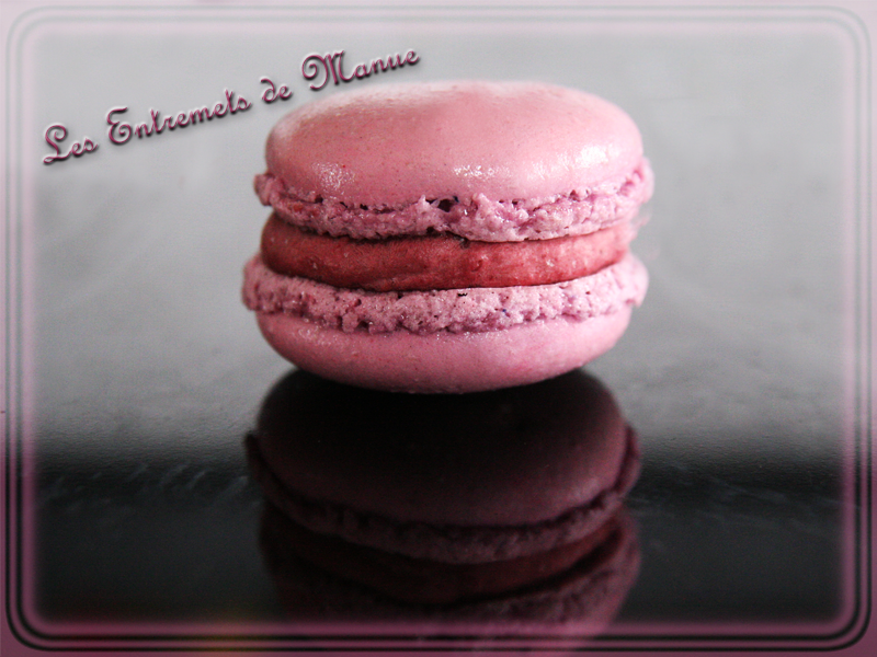 Macarons mure violette