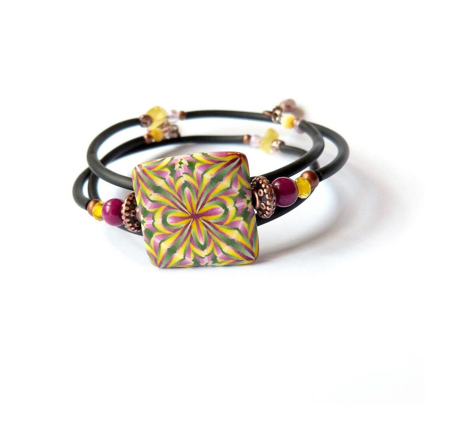 bracelet geom Framboise