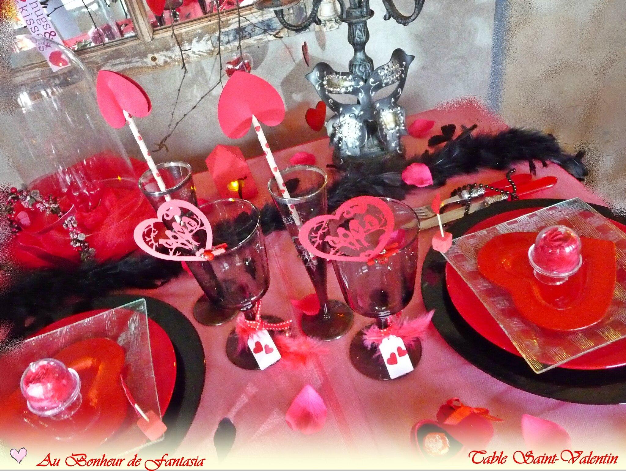 Table Saint Valentin intérieur vos tables saint-valentin mes chères lectrices.. - nicole passions
