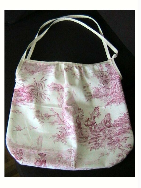 cabas toile jouy
