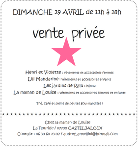 vente privée 29 avril 2012