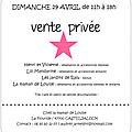 Vente privée...