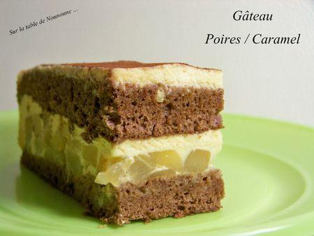 Gâteau poires caramel 2