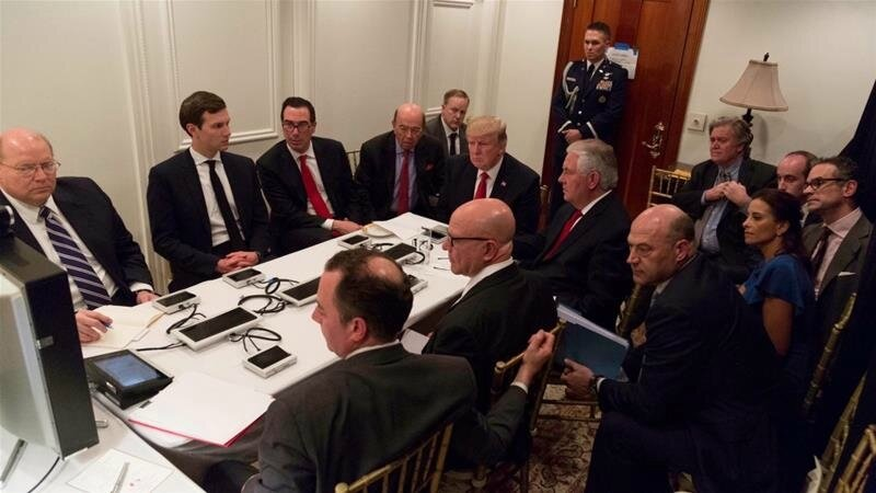President Trump War Cabinet at Mar a Lago