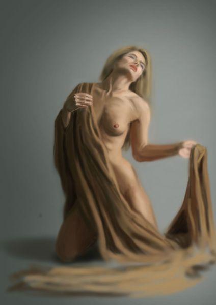 2012-06 (4) étude nue et drapé