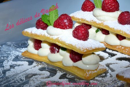 millefeuille-framboise-chantilly-fraise-dessert original-fruits rouges