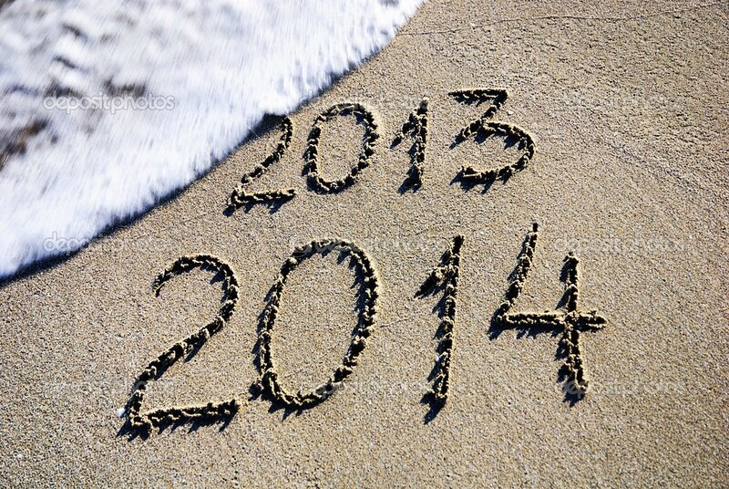 depositphotos_22460609-Happy-New-Year-2014-replace-2013-concept-on-the-sea-beach