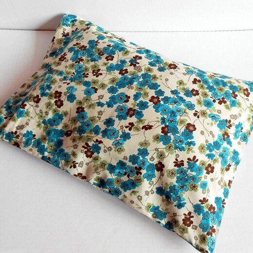 Pochette fleurs bleu-choco2