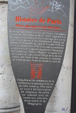 HISTOIRE DE PARIS PASSAGE DU CAIRE