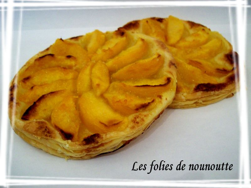 tarte aux peches a l orange