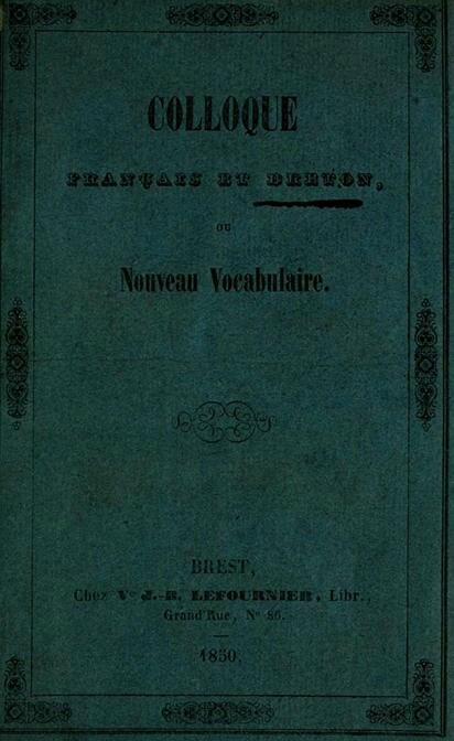 Couverture du colloque de 1850