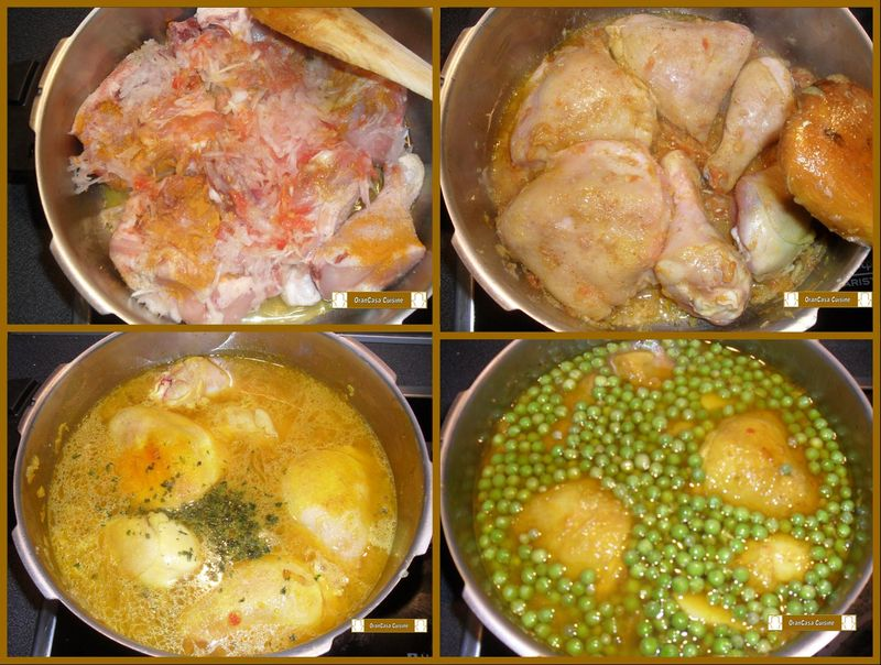 Tajine de petits pois tajine jelben orancasa cuisine - Cuisiner avec un tajine en terre cuite ...