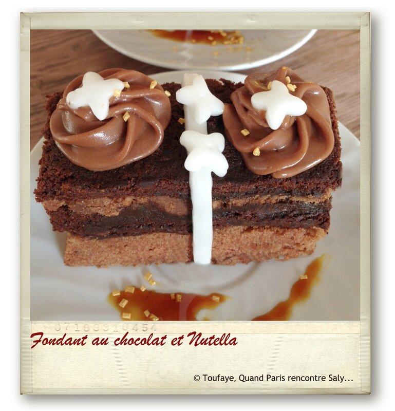 Fondant au chocolat et Nutella