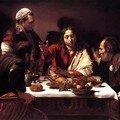 Caravaggio, Souper du Christ chez Emmaus, 1601-1602, h/t, 139x195cm, National Gallery.