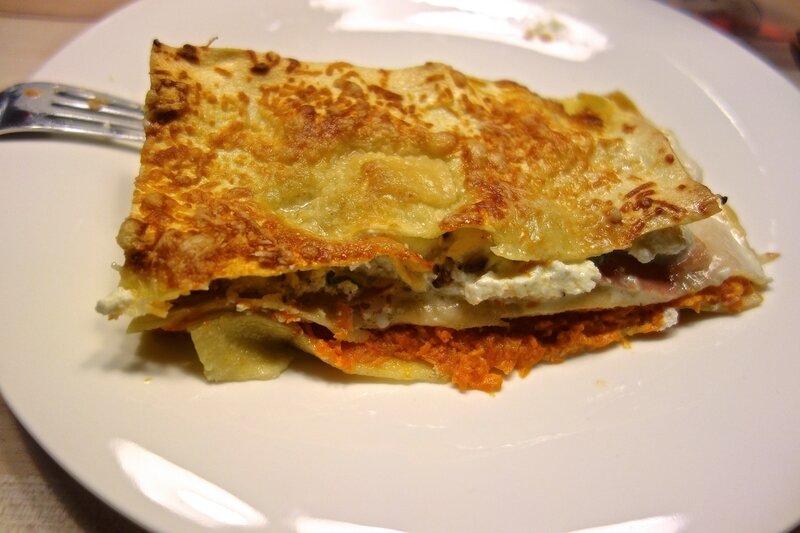 gratin de lasagnes au potiron