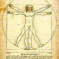L'homme vitruvien (léonard de vinci)