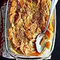 Gratin de patate douce à la purée de noix de cajou (vegan)