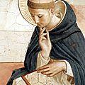 1438-1450 FRA ANGELICO : St Dominique - détail de fresque - San Marco, Florence