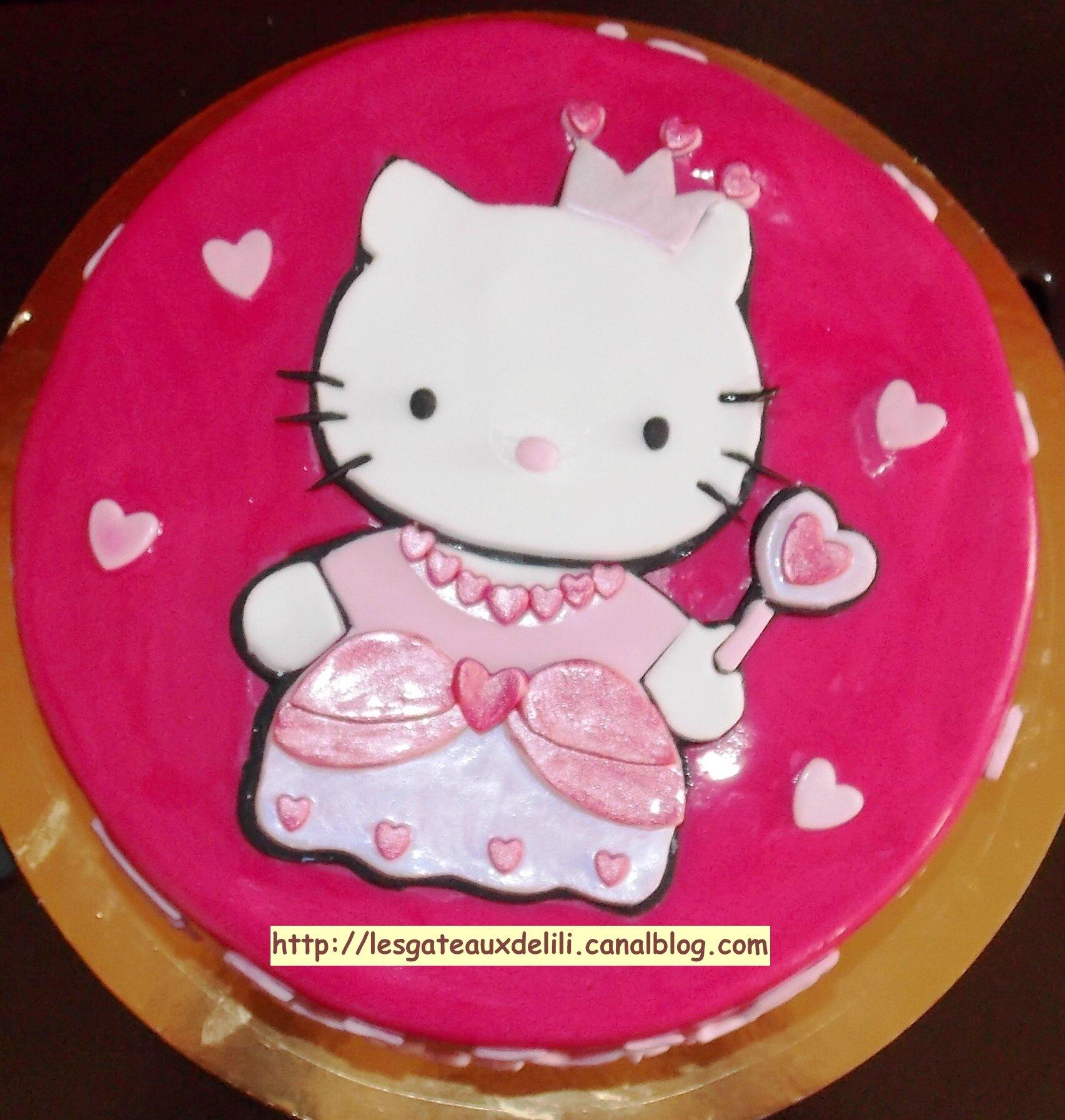 G teau hello kitty les g teaux de lili et autres gourmandises - Gateau de couche hello kitty ...