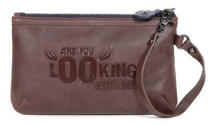 message pouch L BL brown
