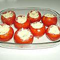Tomates farcies aux oeufs
