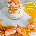 Rivièrra de mangue et ses crevettes, risotto mozzarelle