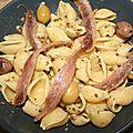 Coquillages aux pesto d'olives et anchois