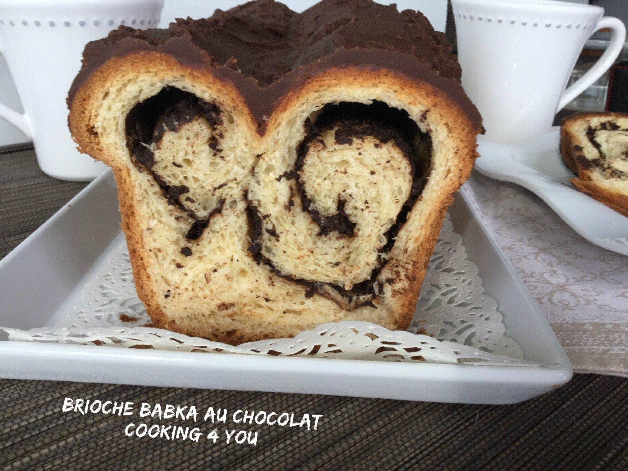 Brioche Babka au chocolat