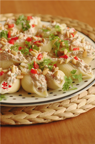 Conchiglie farcis Ricotta, thon, poivron, tomate sche_2