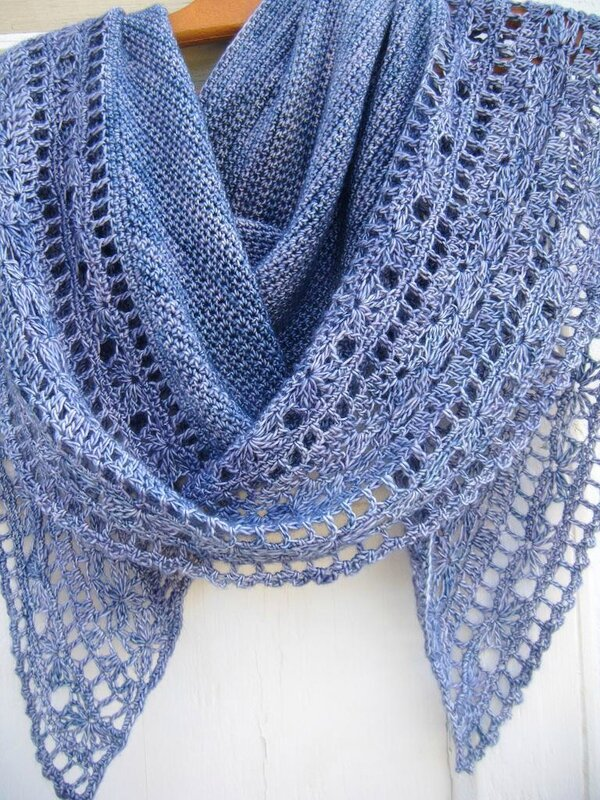 Muscari shawl crochet 114