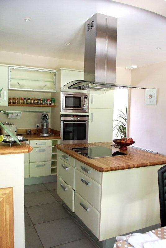 Cuisine plan de travail bois menuiserie s bastien ducamp for Plan de cuisine en bois